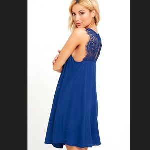 Kiss Goodnight Royal Blue Lace Dress XS from Lulus